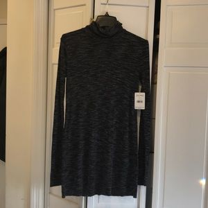 NWT free people black and gray turtleneck tunic